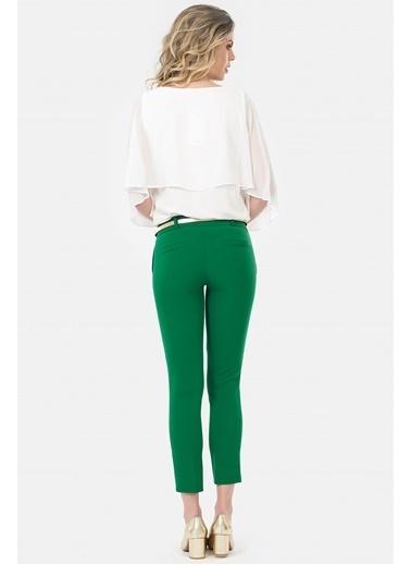 İroni Dar Paça Kumaş Pantolon Yeşil